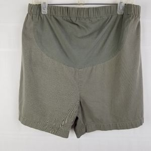 In Due Time maternity shorts drab green size 10